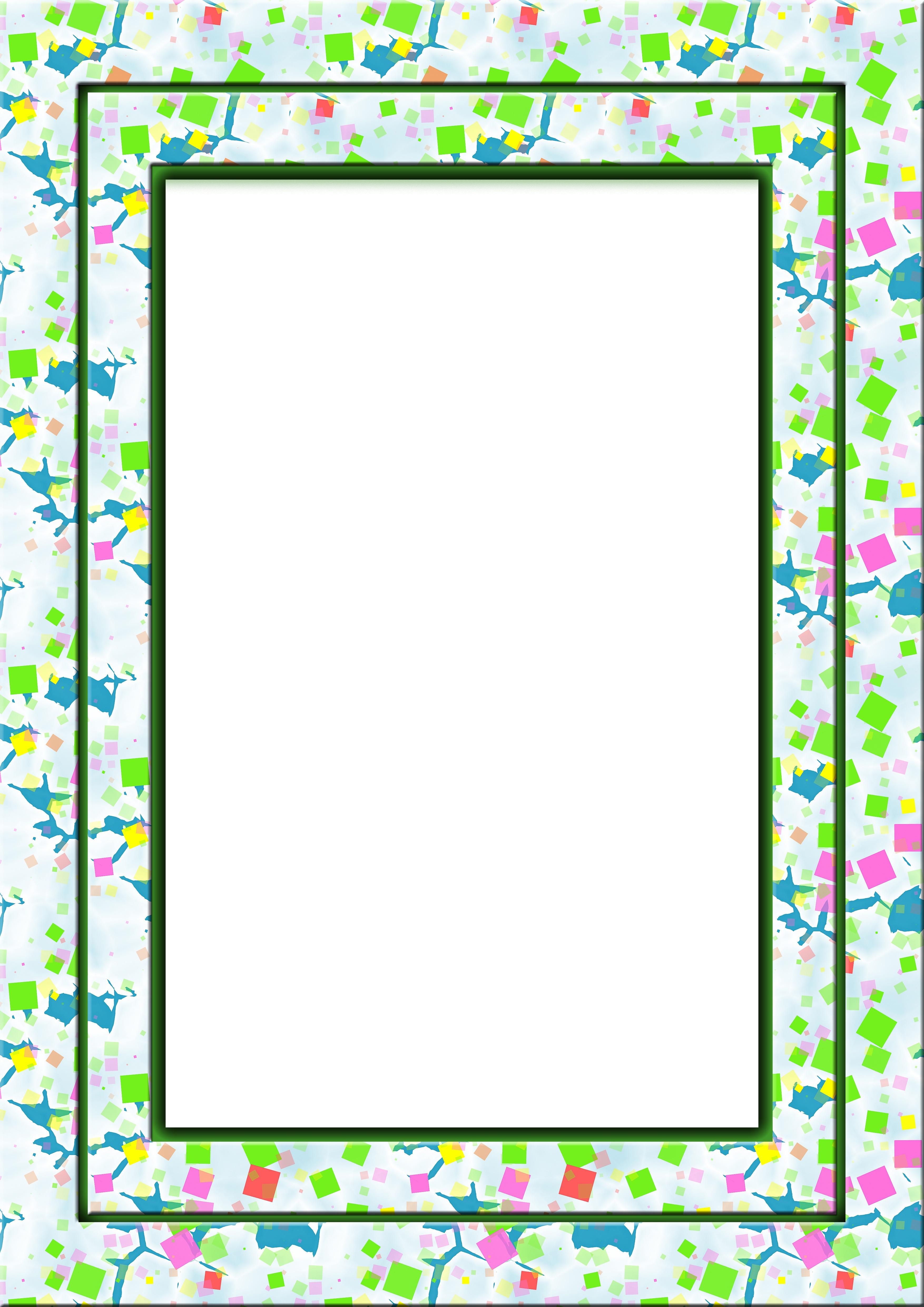 colorful frame border squares photopublicdomaincom