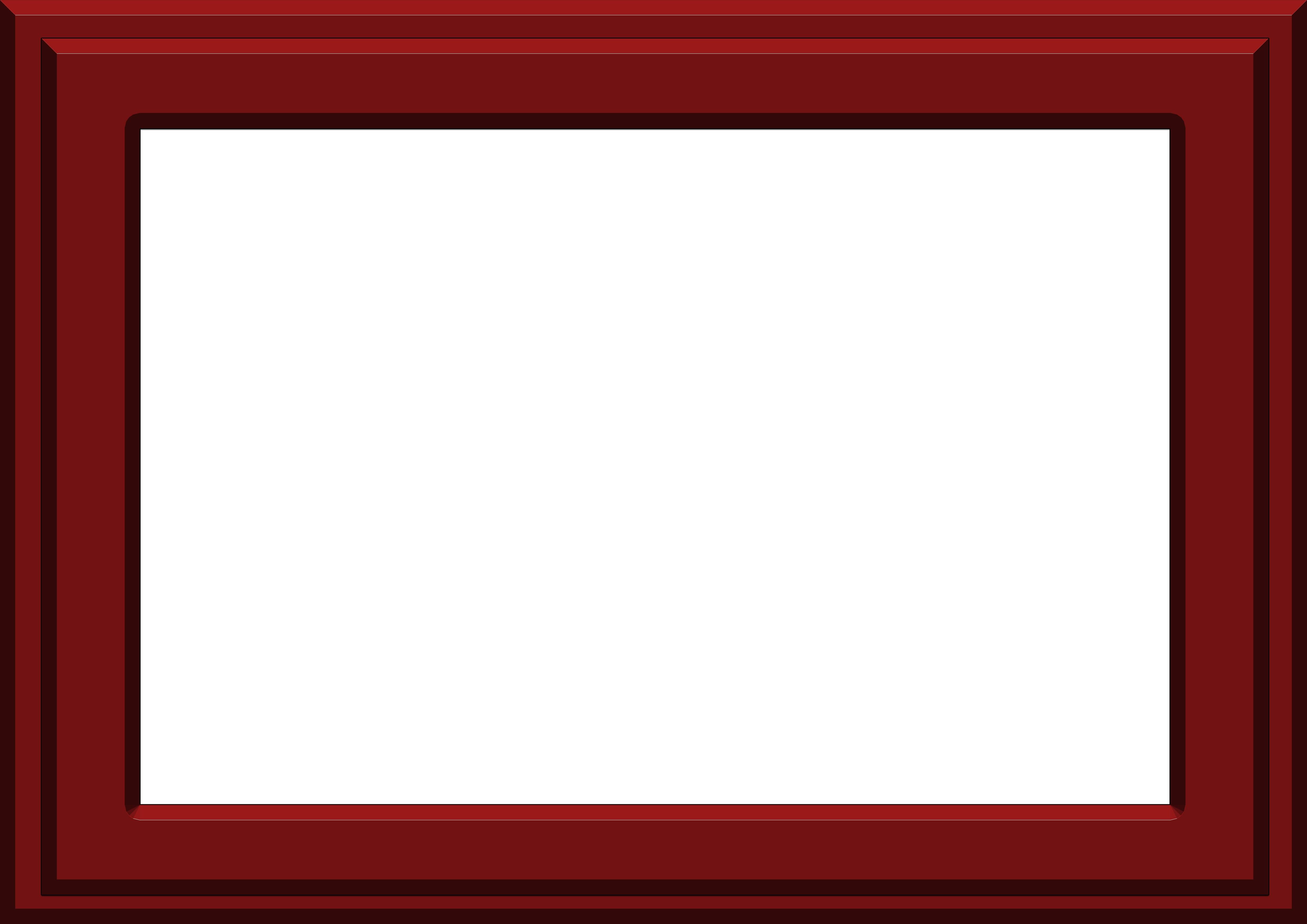 Red frame border 2 - Photopublicdomain.com