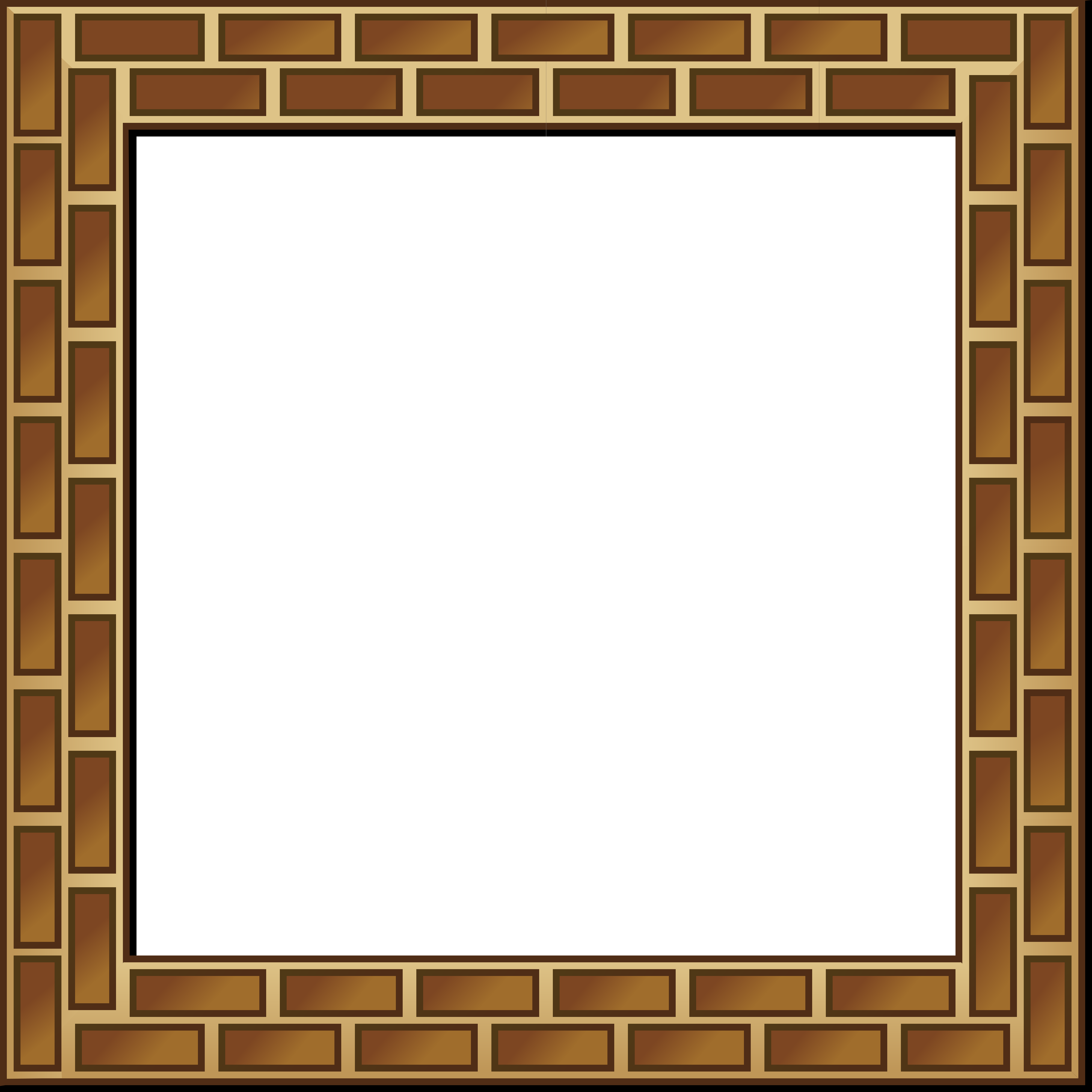 Brown Bricks Frame Border Photopublicdomain Com