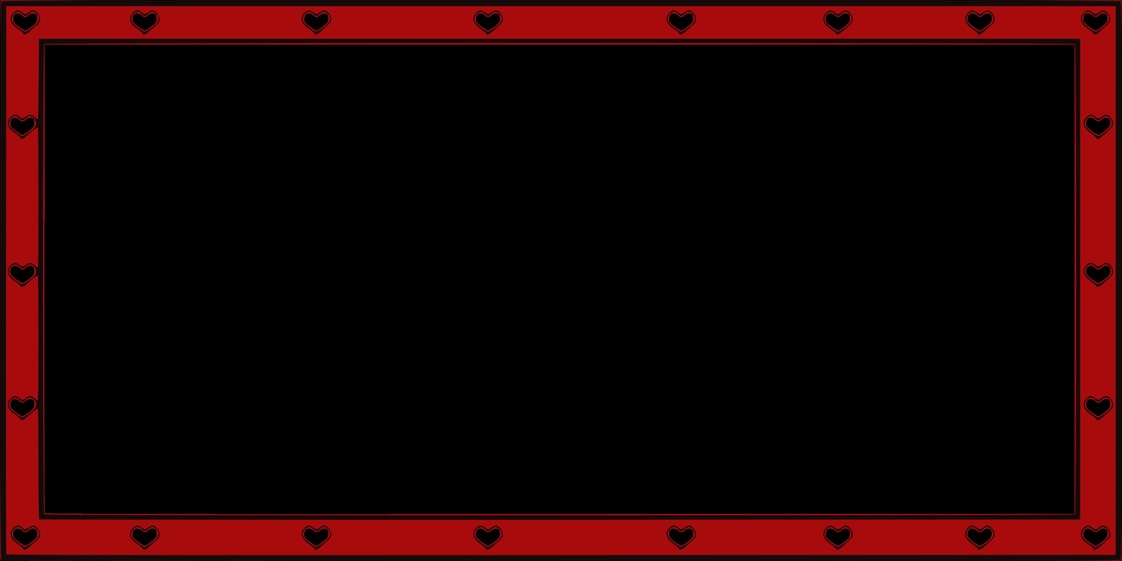 Red heart frame border - Photopublicdomain.com